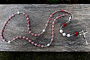 Recently Completed Red and White Rosary